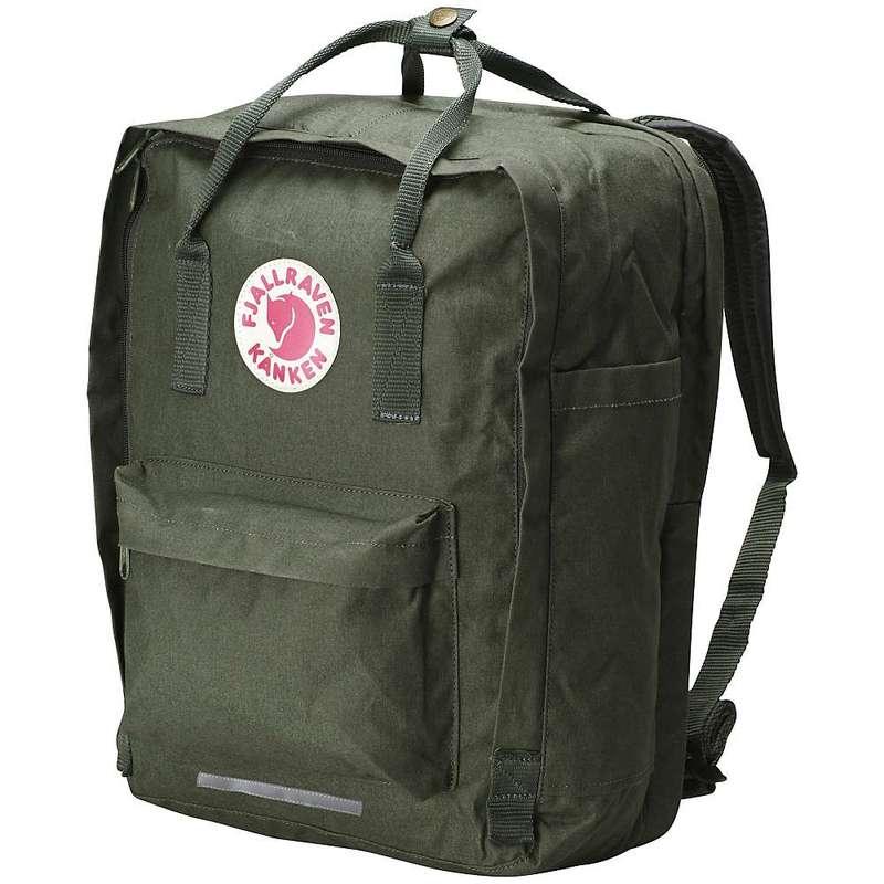 フェールラーベン メンズ バックパック・リュックサック バッグ Fjallraven Kanken 17 Inch Laptop Bag Forest Green