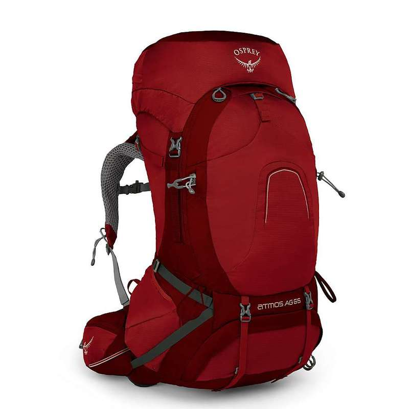 オスプレー メンズ バックパック・リュックサック バッグ Osprey Men's Atmos AG 65 Pack Rigby Red