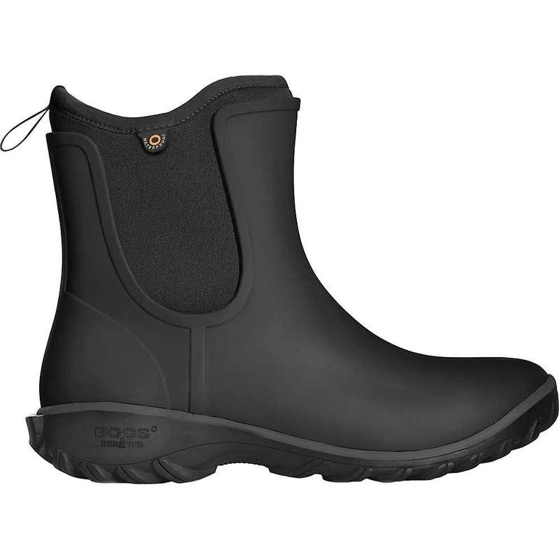ボグス レディース ブーツ・レインブーツ シューズ Bogs Women's Sauvie Slip Boot Black