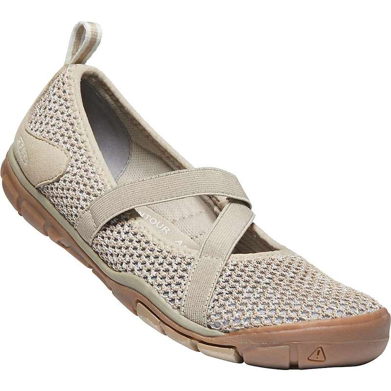 キーン レディース スニーカー シューズ Keen Women's Hush Knit MJ CNX Shoe Plaza Taupe / Silver Birch