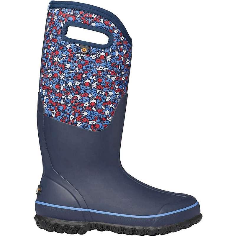 ボグス レディース ブーツ・レインブーツ シューズ Bogs Women's Classic Freckle Flowers Tall Boot Blue Multi