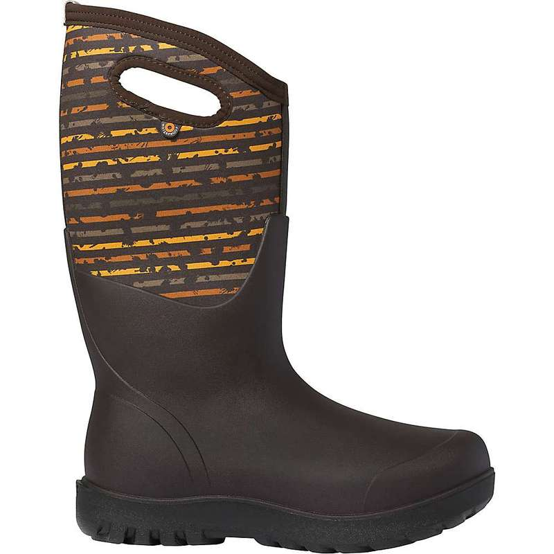 ボグス レディース ブーツ・レインブーツ シューズ Bogs Women's Neo-Classic Spot Stripes Tall Boot Brown Multi