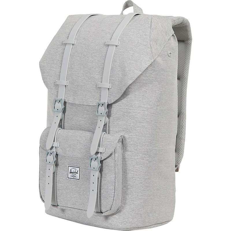 ハーシャル メンズ バックパック・リュックサック バッグ Herschel Supply Co Little America Backpack Light Grey Crosshatch / Black