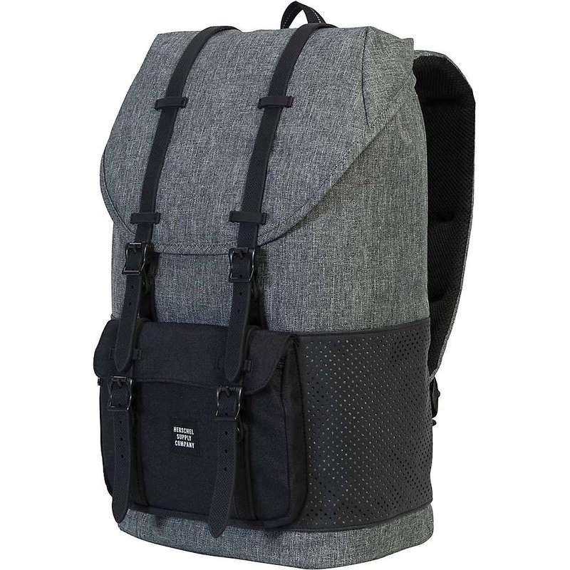 ハーシャル メンズ バックパック・リュックサック バッグ Herschel Supply Co Little America Backpack Raven Crosshatch / Black