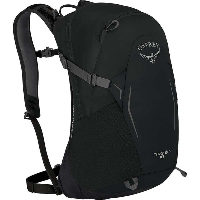 オスプレー メンズ バックパック・リュックサック バッグ Osprey Hikelite 18 Pack Black