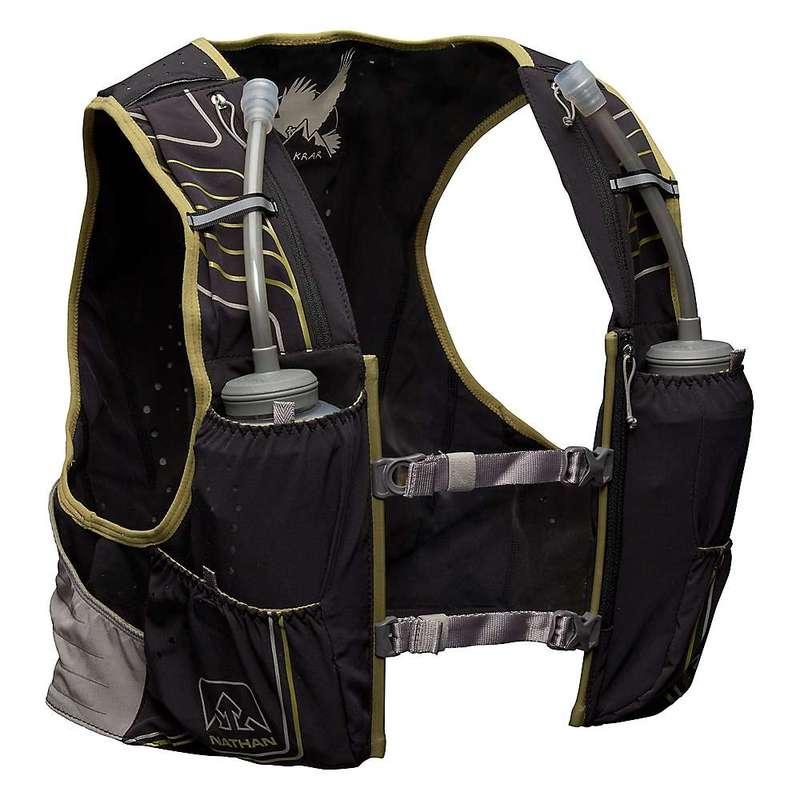 ナーサン メンズ バックパック・リュックサック バッグ Nathan VaporKrar 2.0 4L Vest Black / Mosstone