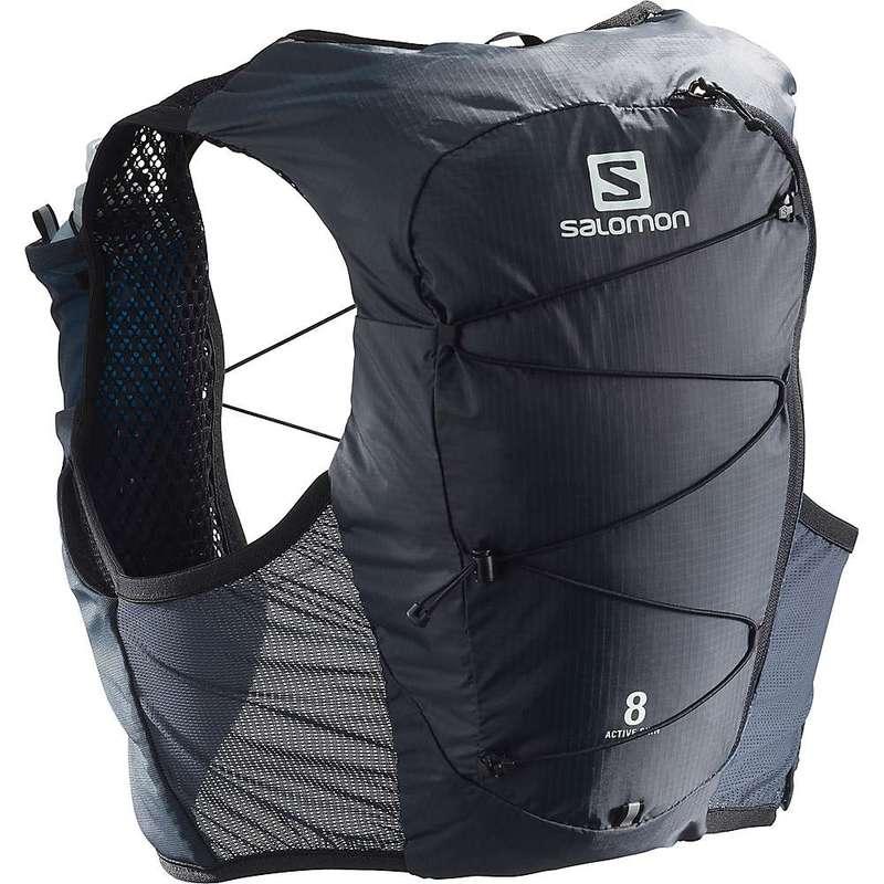 サロモン レディース バックパック・リュックサック バッグ Salomon Active Skin 8 Set Pack Ebony/Black