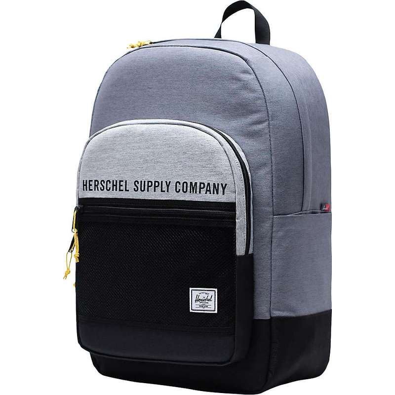 ハーシャル メンズ バックパック・リュックサック バッグ Herschel Supply Co Kaine Backpack Mid Grey Crosshatch/Light Grey Crosshatch/Black