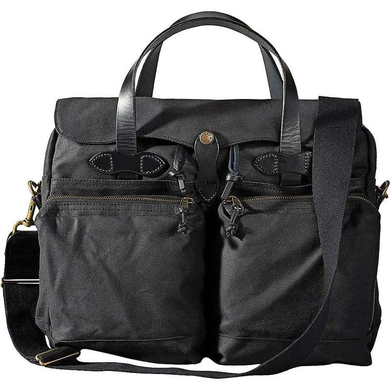 フィルソン メンズ ショルダーバッグ バッグ Filson 24 Hour Tin Briefcase Black