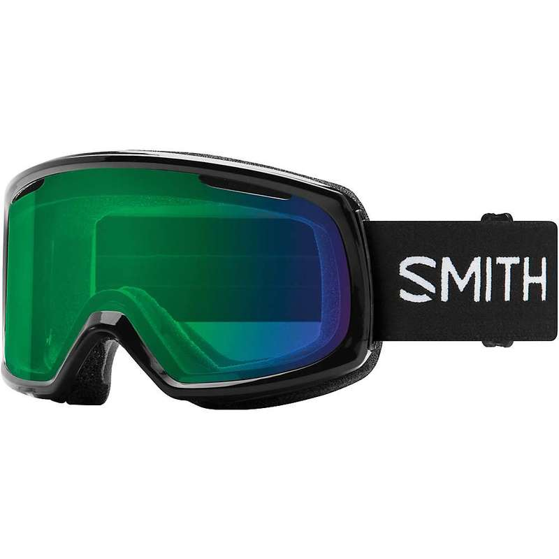 スミス レディース サングラス・アイウェア アクセサリー Smith Women's Riot ChromaPop Snow Goggle Black/CPop Everyday Green Mirror
