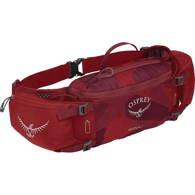 オスプレー メンズ ボディバッグ・ウエストポーチ バッグ Osprey Savu Lumbar Pack Molten Red