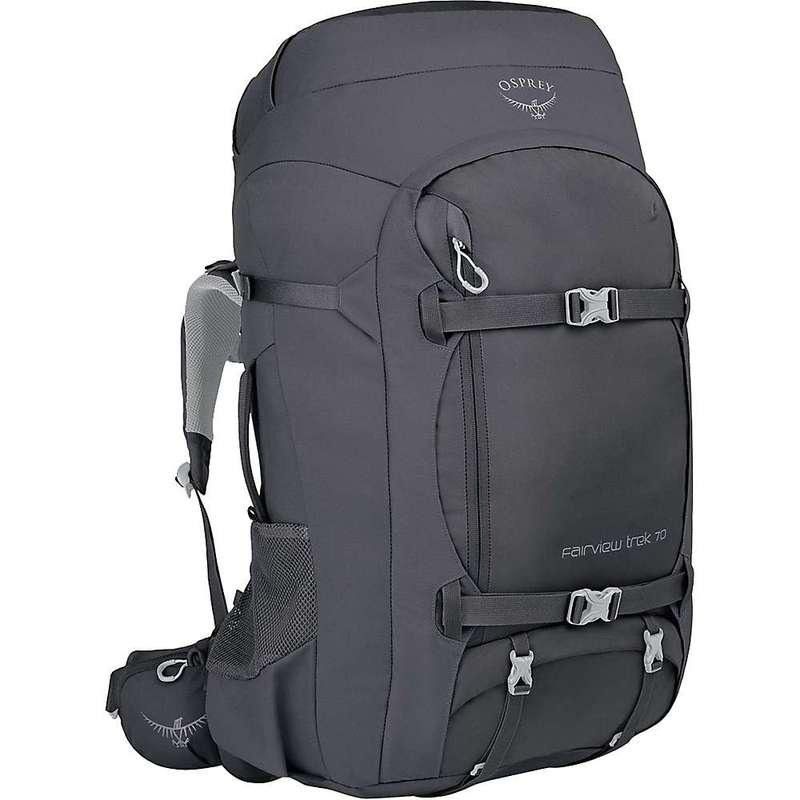 オスプレー メンズ バックパック・リュックサック バッグ Osprey Fairview Trek Travel Pack 70 Charcoal Grey
