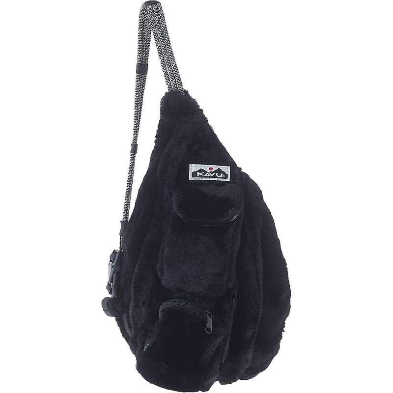 カブー メンズ ボディバッグ・ウエストポーチ バッグ Kavu Women's Mini Rope Fuzz Sling Bag Black