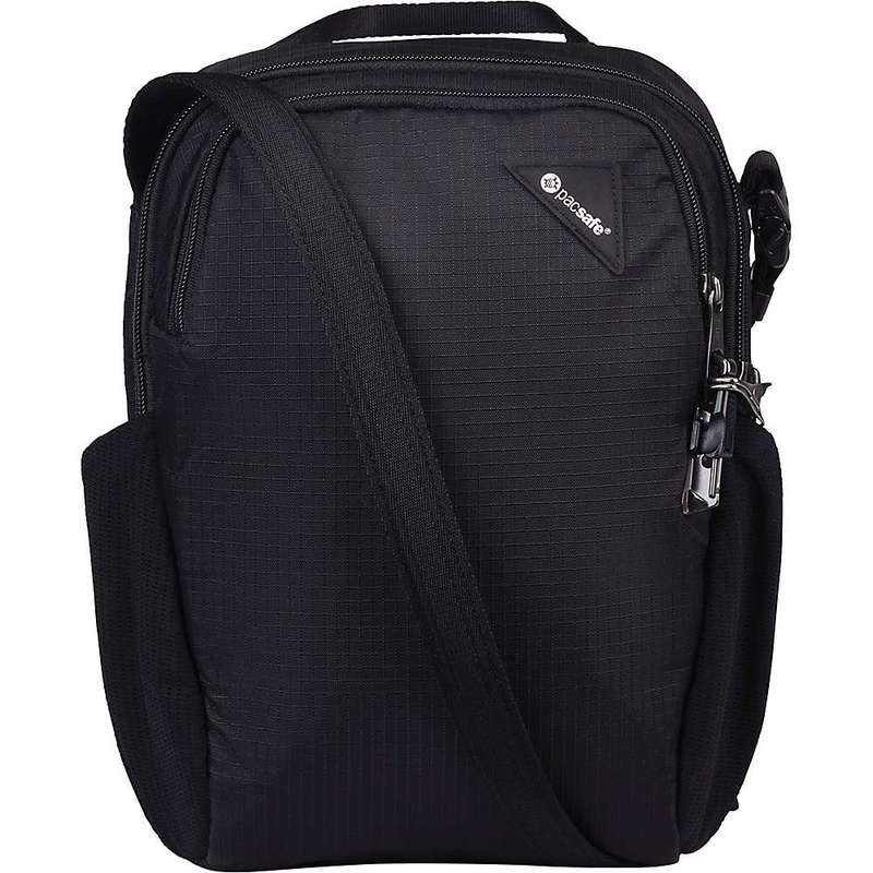 パックセーフ メンズ ショルダーバッグ バッグ Pacsafe Vibe 200 Anti-Theft Compact Travel Bag Jet Black