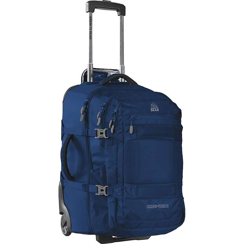 グラナイトギア メンズ スーツケース バッグ Granite Gear Cross Trek 2 Wheeled Upright with Removeable Backpack Midnight Blue/Flint