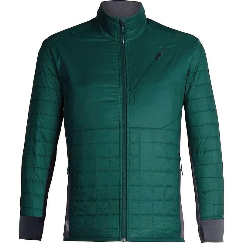 アイスブレーカー メンズ ジャケット・ブルゾン アウター Icebreaker Men's Helix LS Zip Jacket Dark Pine / Monsoon
