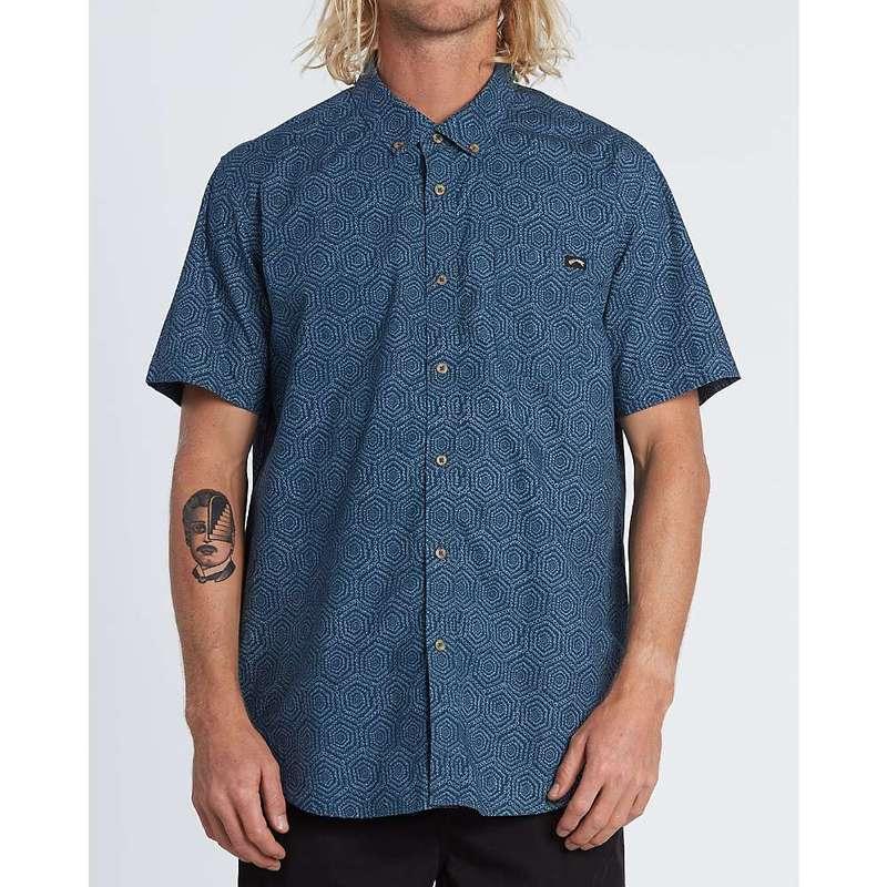 ビラボン メンズ シャツ トップス Billabong Men's Sundays Mini SS Shirt Dark Blue