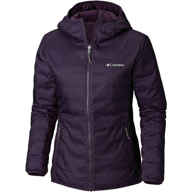 コロンビア レディース ジャケット・ブルゾン アウター Columbia Women's Lake 22 Reversible Hooded Jacket Dark Plum Heather Print