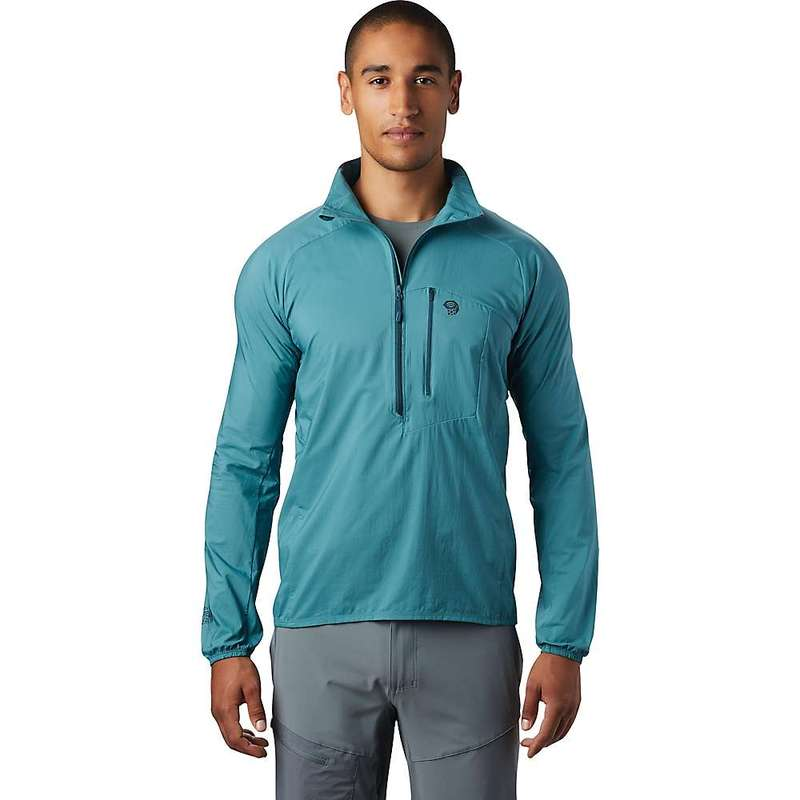 マウンテンハードウェア メンズ ジャケット・ブルゾン アウター Mountain Hardwear Men's Kor Preshell Pullover Washed Turquoise