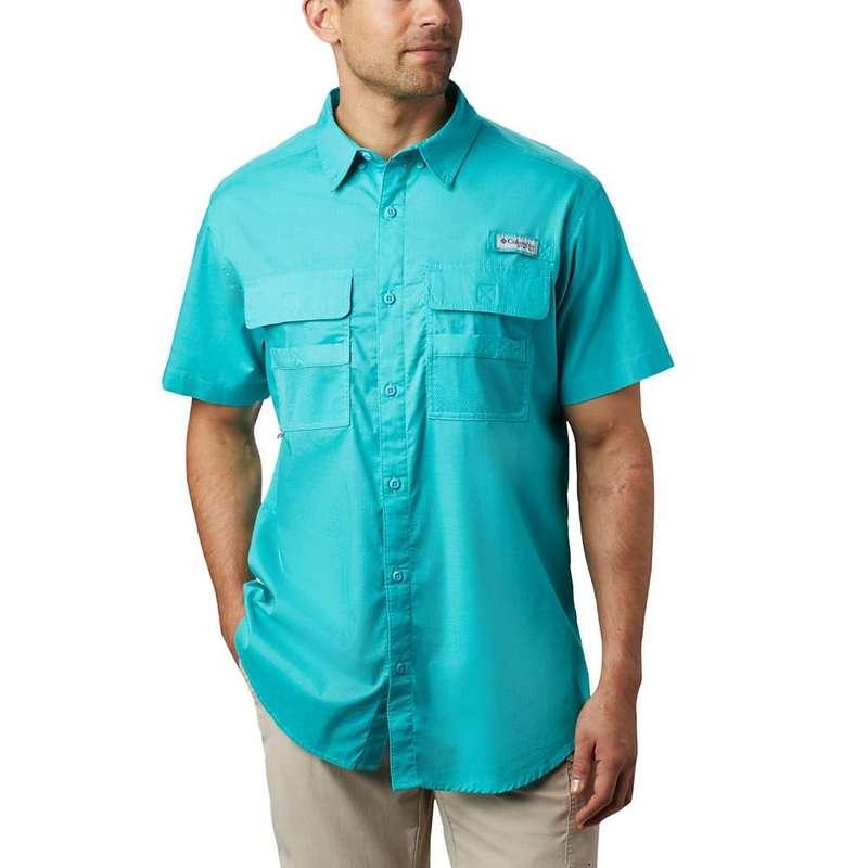 コロンビア メンズ シャツ トップス Columbia Men's Half Moon SS Shirt Bright Aqua