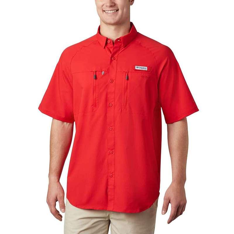 コロンビア メンズ シャツ トップス Columbia Men's Terminal Tackle SS Woven Shirt Red Spark