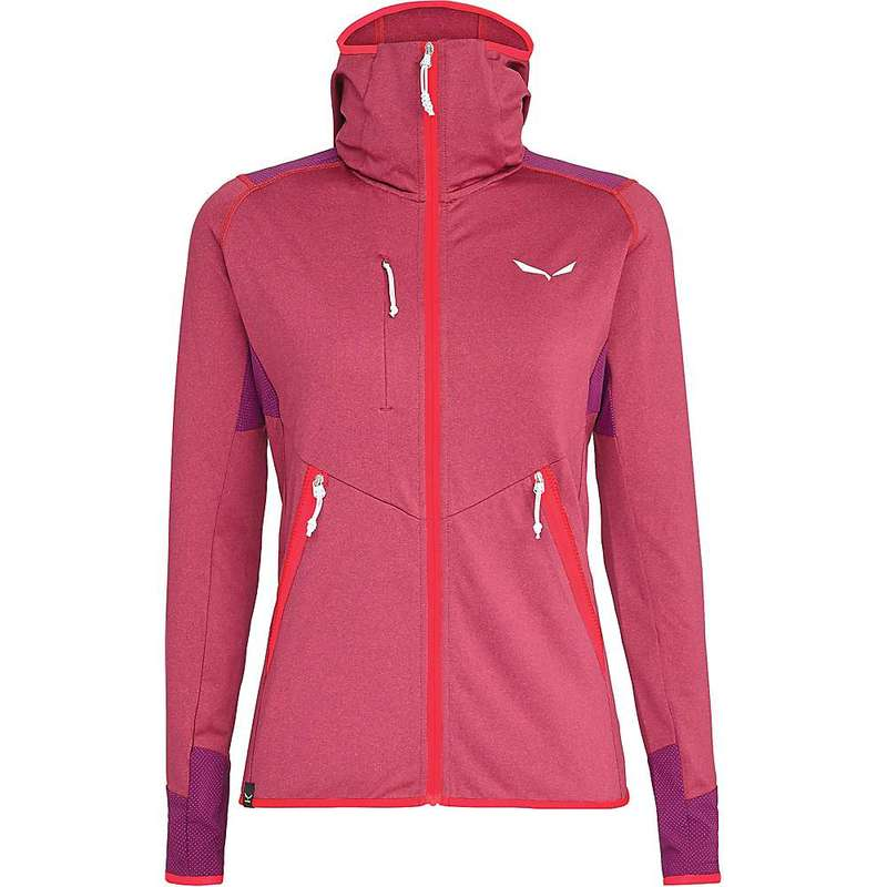 サレワ レディース ジャケット・ブルゾン アウター Salewa Women's Agner Hybrid PL/DST Full Zip Hoody Rose Red Melange