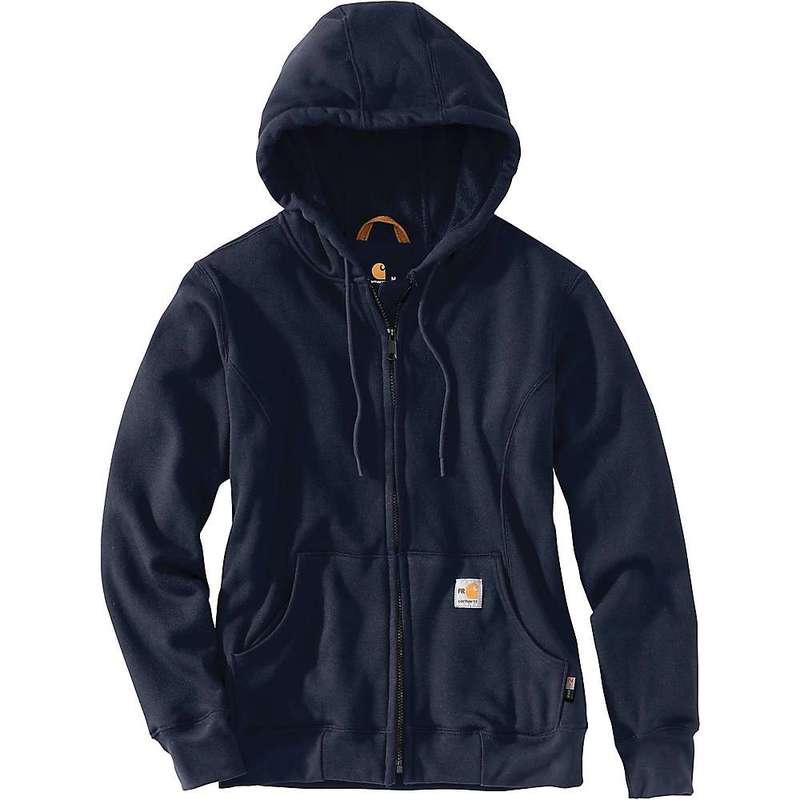 カーハート レディース ジャケット・ブルゾン アウター Carhartt Women's Flame Resistant Heavyweight Hooded Zip Front Sweatshirt Dark Navy