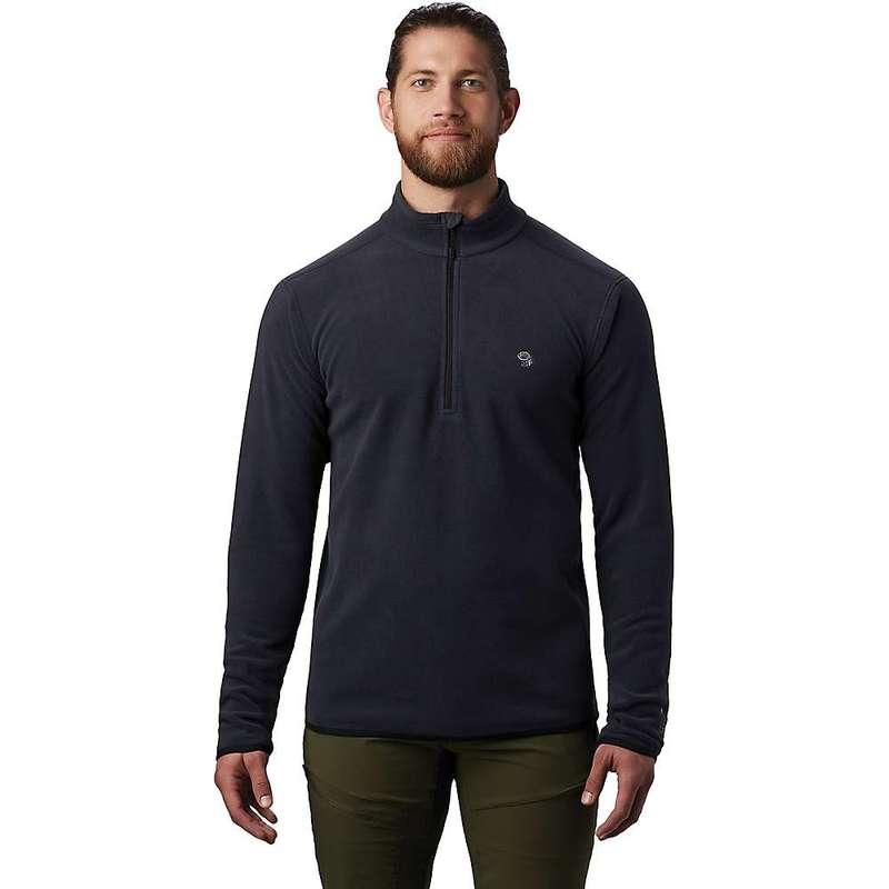 マウンテンハードウェア メンズ ニット・セーター アウター Mountain Hardwear Men's Macrochill 1/2 Zip Pullover Dark Storm