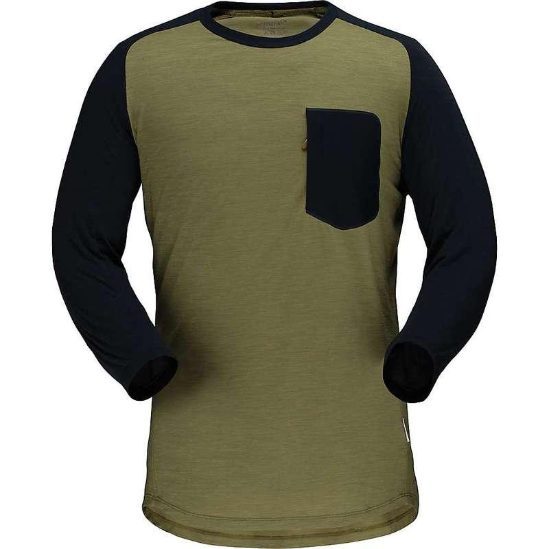 ノローナ メンズ シャツ トップス Norrona Men's Skibotn Wool 3/4 T-Shirt Olive Drab