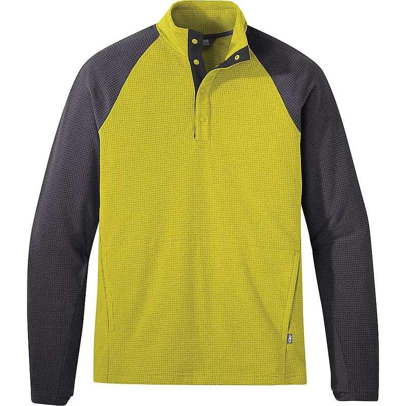 アウトドアリサーチ メンズ ジャケット・ブルゾン アウター Outdoor Research Men's Trail Mix Snap Pullover Citron / Storm