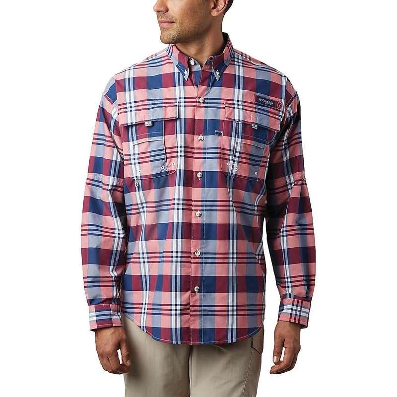 コロンビア メンズ シャツ トップス Columbia Men's Super Bahama LS Shirt Carbon Multi Plaid