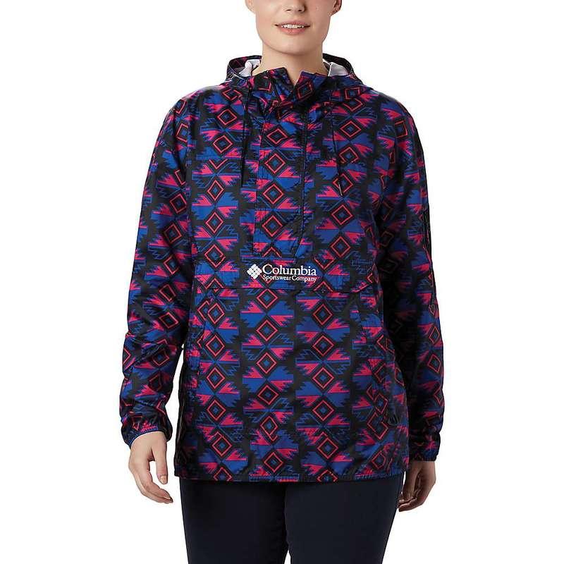 コロンビア レディース ジャケット・ブルゾン アウター Columbia Women's Challenger Windbreaker Jacket Black Sw Blocks Print