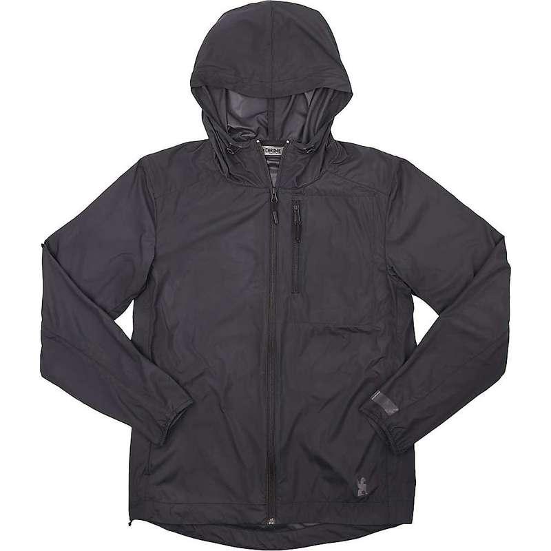 クローム インダストリーズ メンズ ジャケット・ブルゾン アウター Chrome Industries Men's Elston Packable Windbreaker Jacket Black