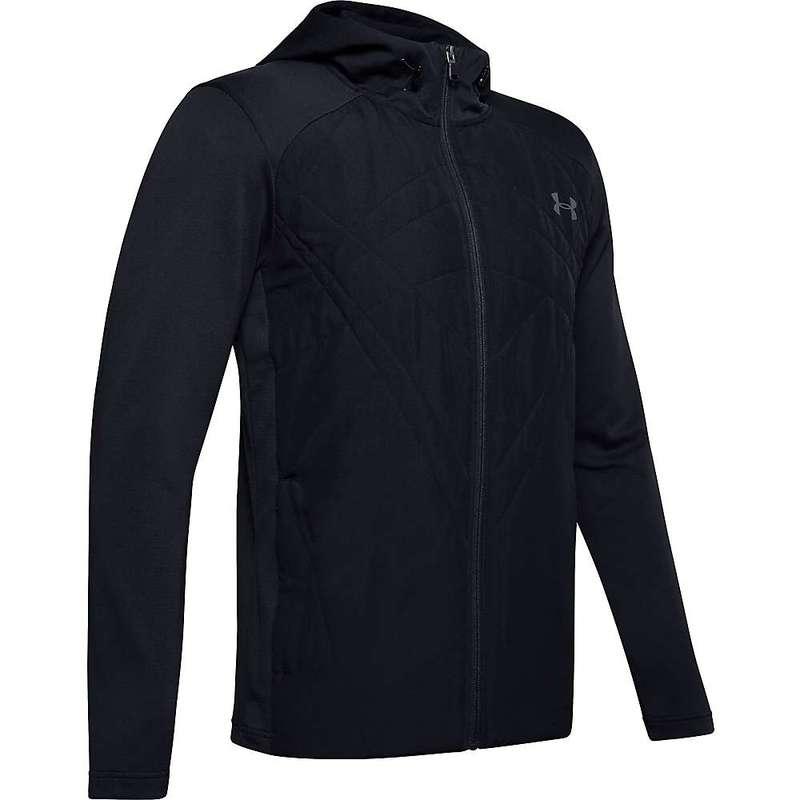 アンダーアーマー メンズ ジャケット・ブルゾン アウター Under Armour Men's ColdGear Sprint Hybrid Jacket Black / Pitch Grey