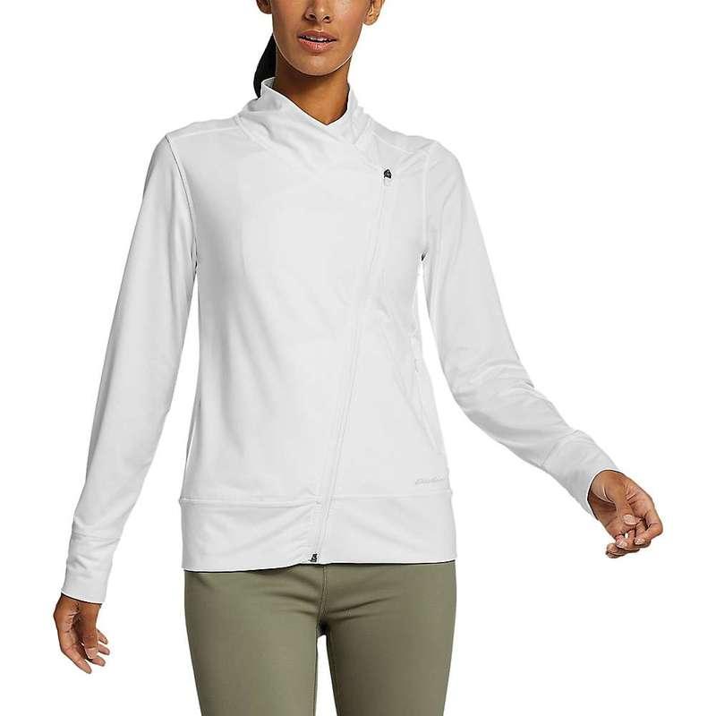 エディー バウアー レディース ジャケット・ブルゾン アウター Eddie Bauer Motion Women's Resolution 360 Asymmetrical Jacket White