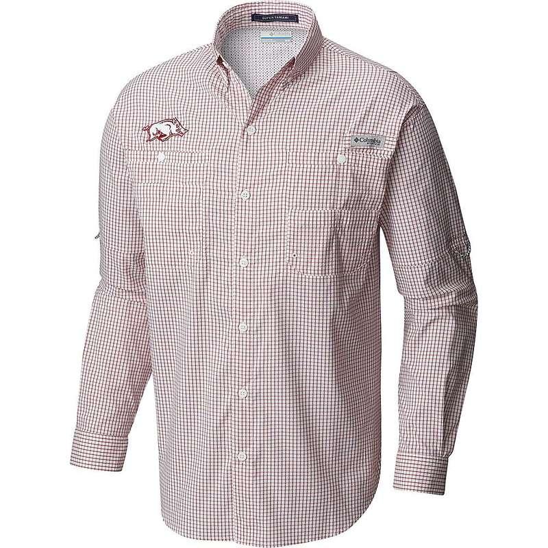コロンビア メンズ シャツ トップス Columbia Men's Collegiate Super Tamiami LS Shirt Ark - Red Velvet Gingham