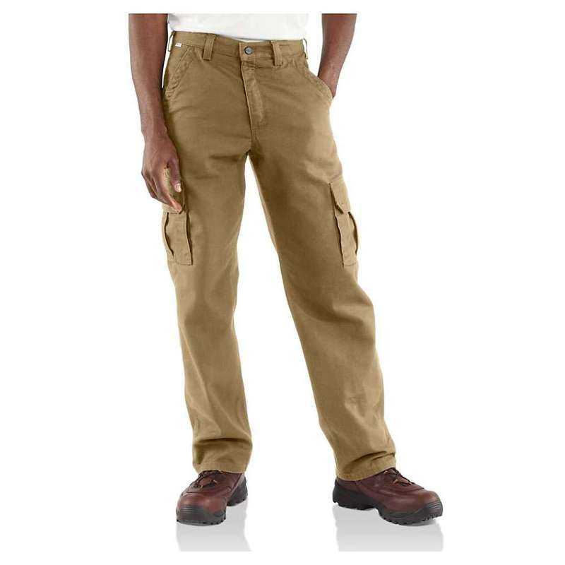 カーハート メンズ カジュアルパンツ ボトムス Carhartt Men's Flame Resistant Canvas Cargo Pant Golden Khaki