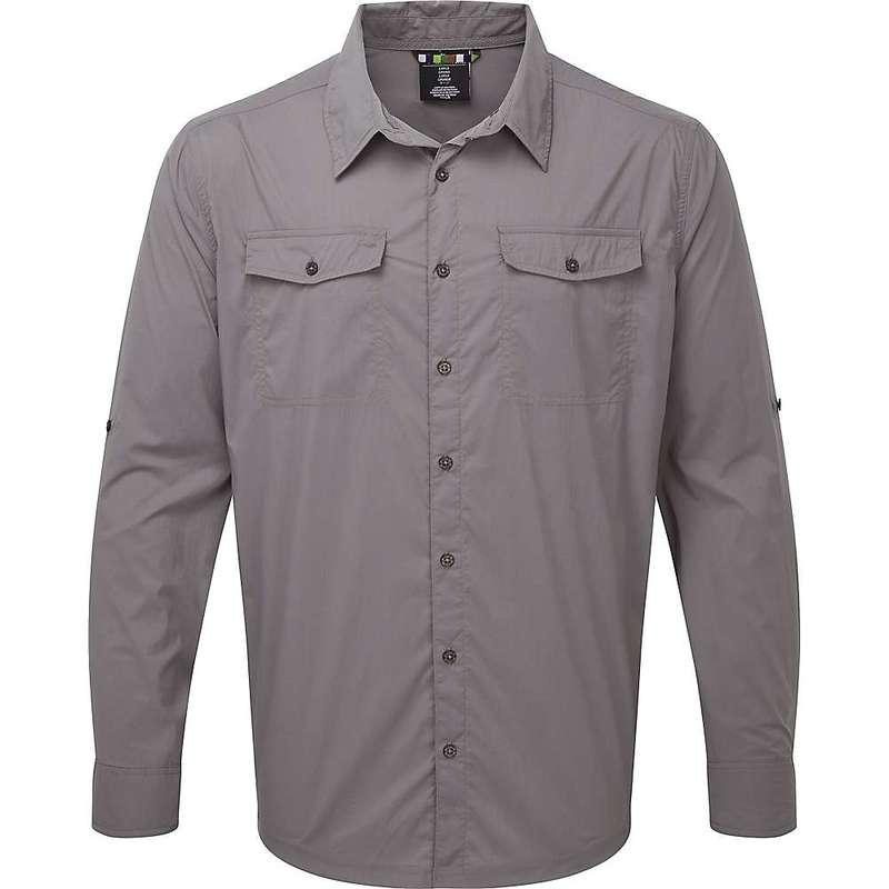 シャーパ メンズ シャツ トップス Sherpa Men's Ravi LS Shirt Monsoon Grey