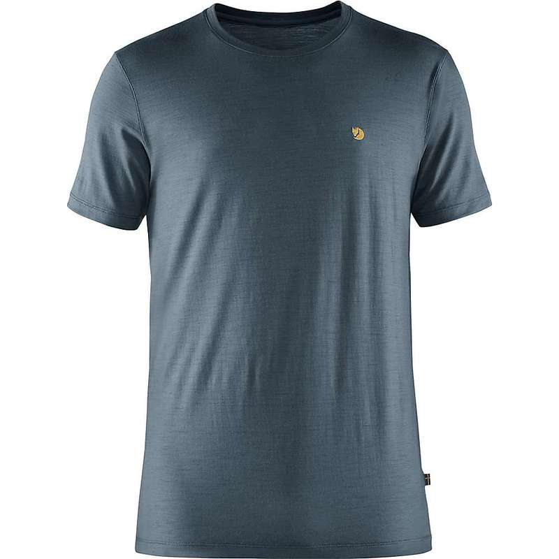 フェールラーベン メンズ Tシャツ トップス Fjallraven Men's Bergtagen Thinwool SS T-Shirt Mountain Blue