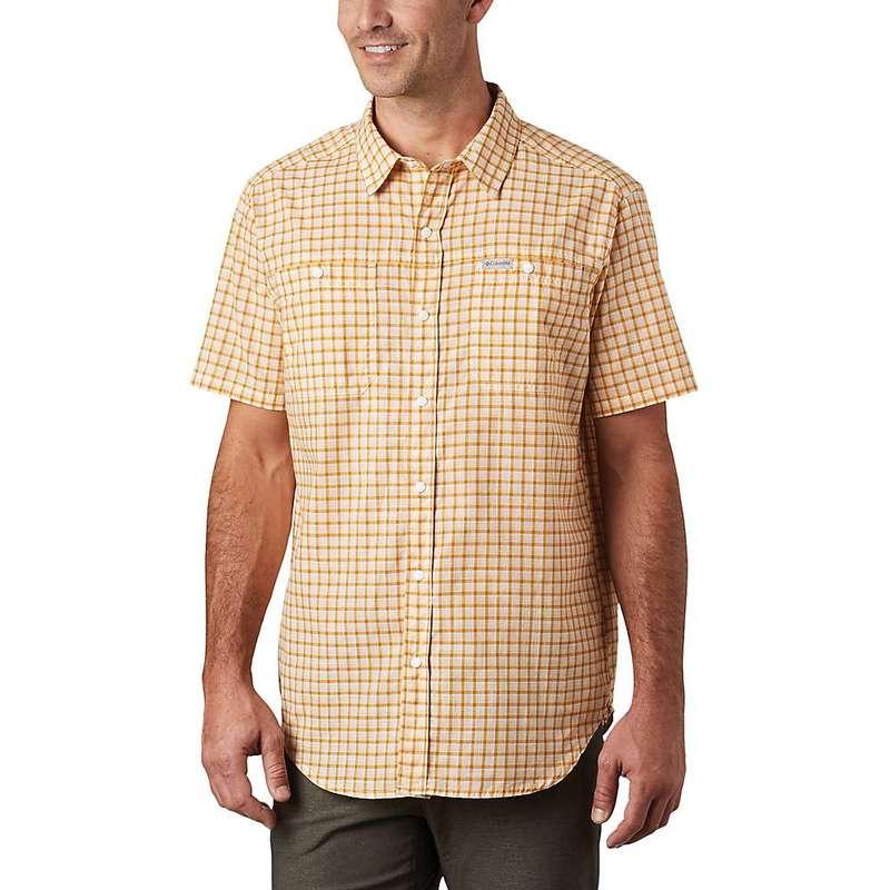コロンビア メンズ シャツ トップス Columbia Men's Leadville Ridge II SS Shirt Bright Gold Small Grid Plaid