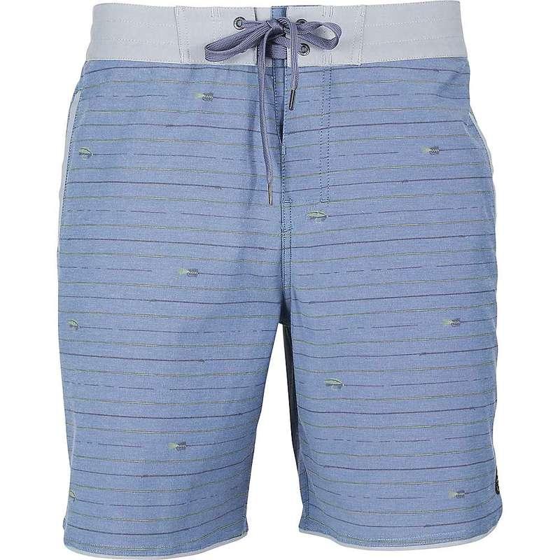 ユナイテッドバイブルー メンズ ハーフパンツ・ショーツ ボトムス United By Blue Men's Organic Scalloped Boardshort Mallard Blue
