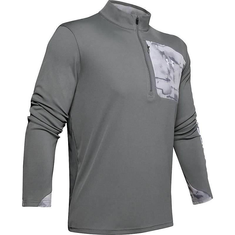 アンダーアーマー メンズ シャツ トップス Under Armour Men's ISO-Chill Shore Break 1/2 Zip Top Pitch Grey / Halo Grey