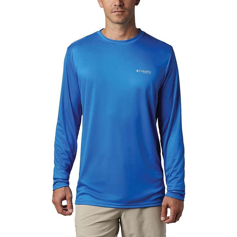 コロンビア メンズ シャツ トップス Columbia Men's Terminal Tackle PFG Country Triangle LS Shirt Vivid Blue / Usa Flag