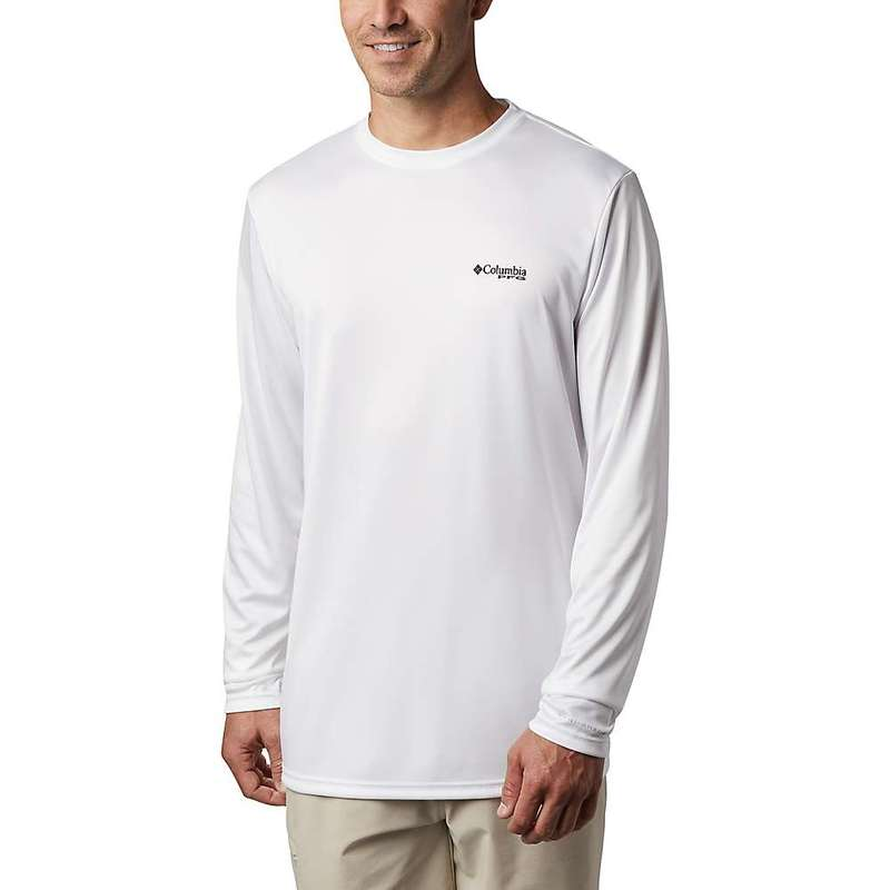 コロンビア メンズ シャツ トップス Columbia Men's Terminal Tackle PFG Country Triangle LS Shirt White / Usa Flag