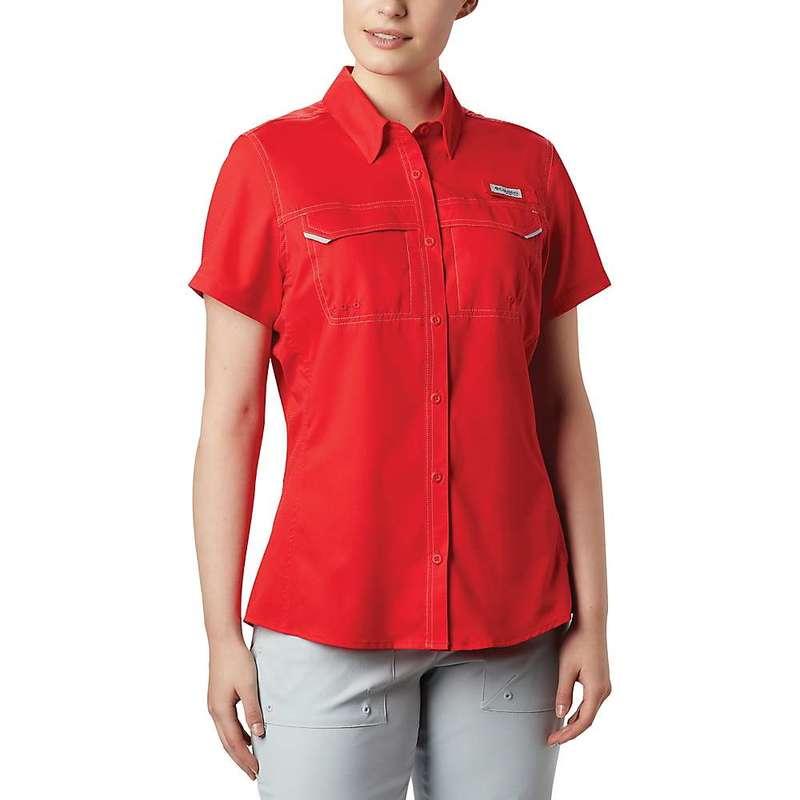 コロンビア レディース シャツ トップス Columbia Women's Lo Drag SS Shirt Red Lily