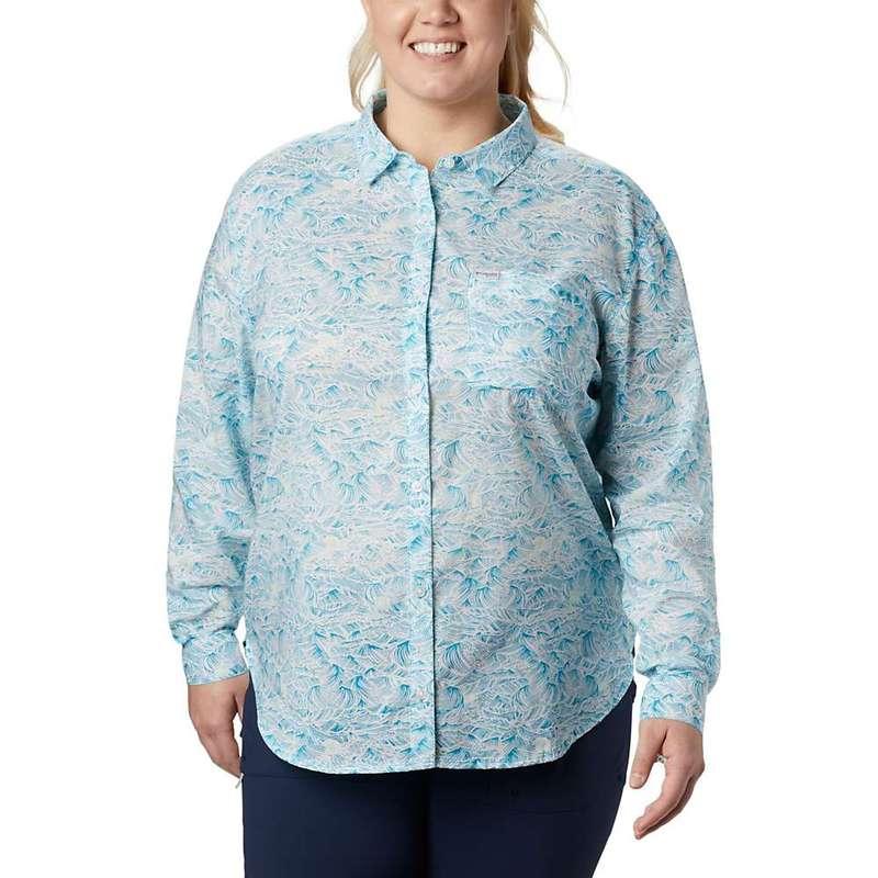 コロンビア レディース シャツ トップス Columbia Women's Sun Drifter II LS Shirt Clear Water Buoy Waves Print