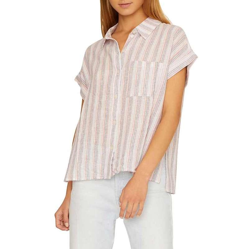 サンクチュアリー レディース シャツ トップス Sanctuary Women's Mod Short Sleeve Boyfriend Shirt Santa Fe Stripe