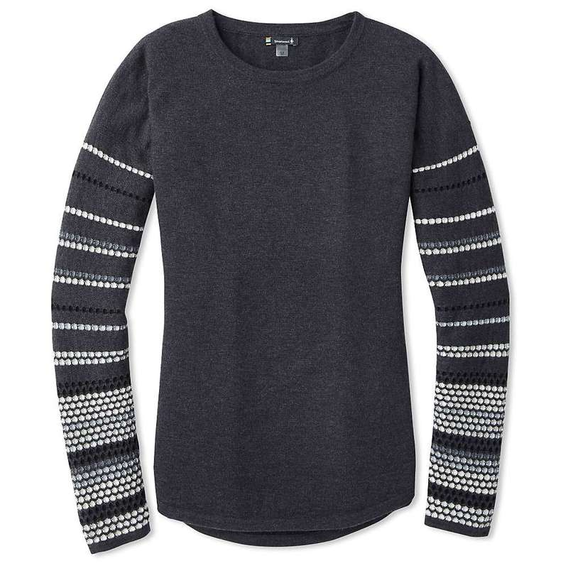 スマートウール レディース ニット・セーター アウター Smartwool Women's Shadow Pine Crew Sweater Charcoal Heather