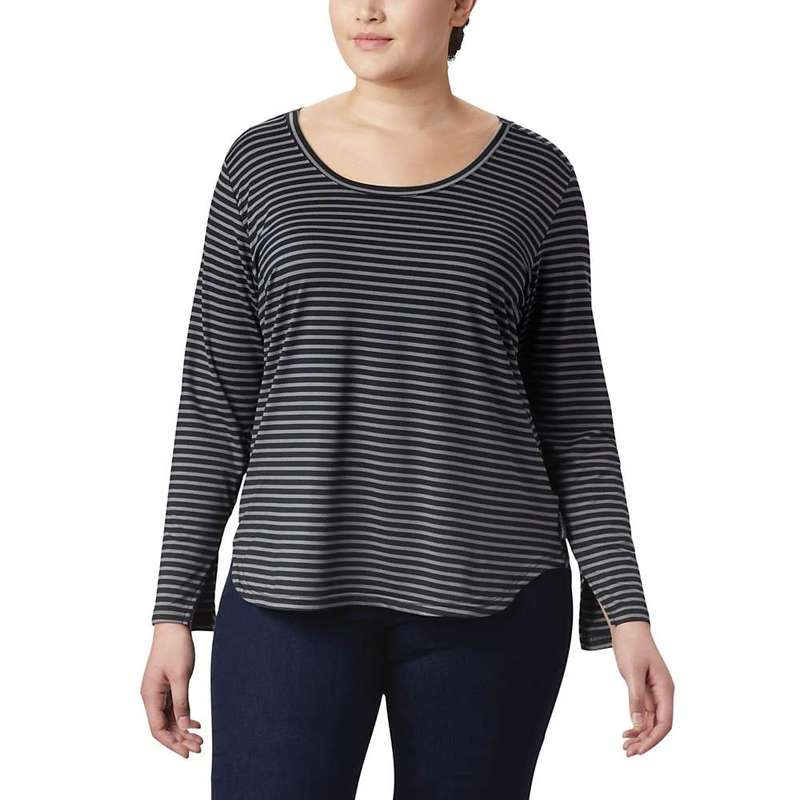 コロンビア レディース シャツ トップス Columbia Women's Firwood Camp LS Tee Black Medium Stripe