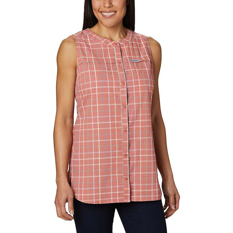 コロンビア レディース シャツ トップス Columbia Women's Silver Ridge Novelty Tunic Dark Coral Windowpane
